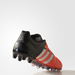 adidas ACE 15.2 FG/AG Leather Leder orange/weiß/schwarz – Bild 3
