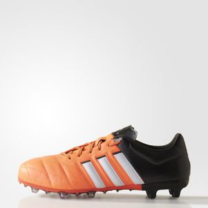 adidas ACE 15.2 FG/AG Leather Leder orange/weiß/schwarz – Bild 1