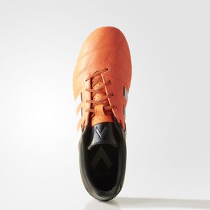adidas ACE 15.2 FG/AG Leather Leder orange/weiß/schwarz – Bild 4