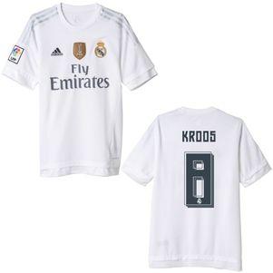 adidas Real Madrid Heimtrikot Badge 2015-2016 Ronaldo Bale Kroos James – Bild 6