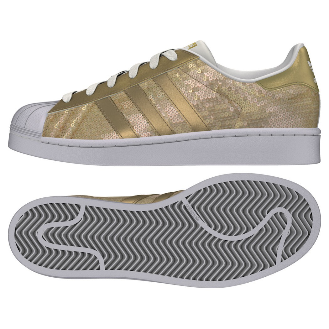 adidas Originals Superstar Damen gold metallic
