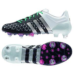 adidas ACE 15.1 SG Synthetik Fußballschuhe schwarz/weiß/silber/mint
