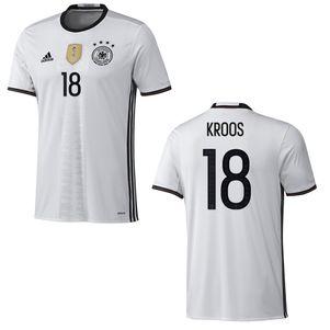 adidas DFB Home 4 Sterne Deutschland Heimtrikot mit Flock weiß EM 2016 – Bild 11
