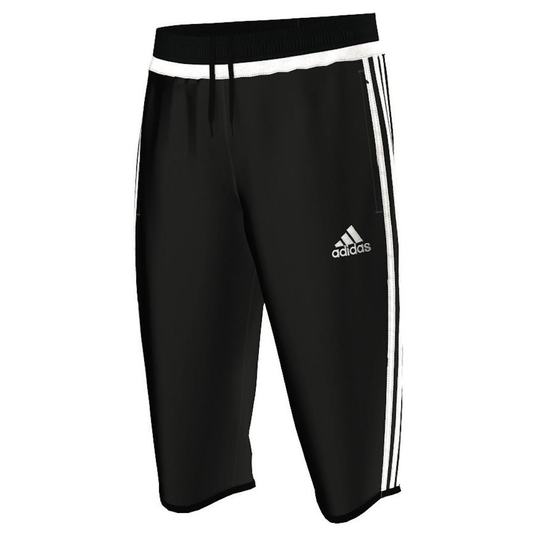 adidas Tiro15 34 Pant Hose Short schwarzweiß