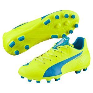 Puma evoSPEED 4.4  AG Junior Fußballschuhe gelb/blau/weiß