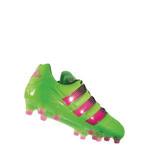 adidas ACE 16.1 FG/AG Leather (Leder) grün/pink/schwarz – Bild 2