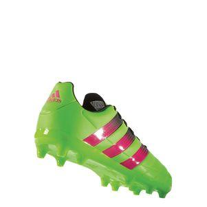 adidas ACE 16.3 FG/AG Junior Leder Fußballschuhe grün/pink/schwarz – Bild 5