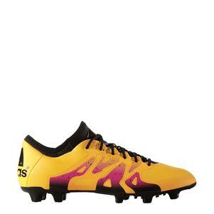 adidas X 15.1 FG/AG Synthetik Fußballschuhe gold/schwarz/pink – Bild 2