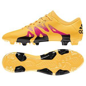 adidas X 15.2 FG/AG Synthetik Fußballschuhe gold / schwarz / pink – Bild 1