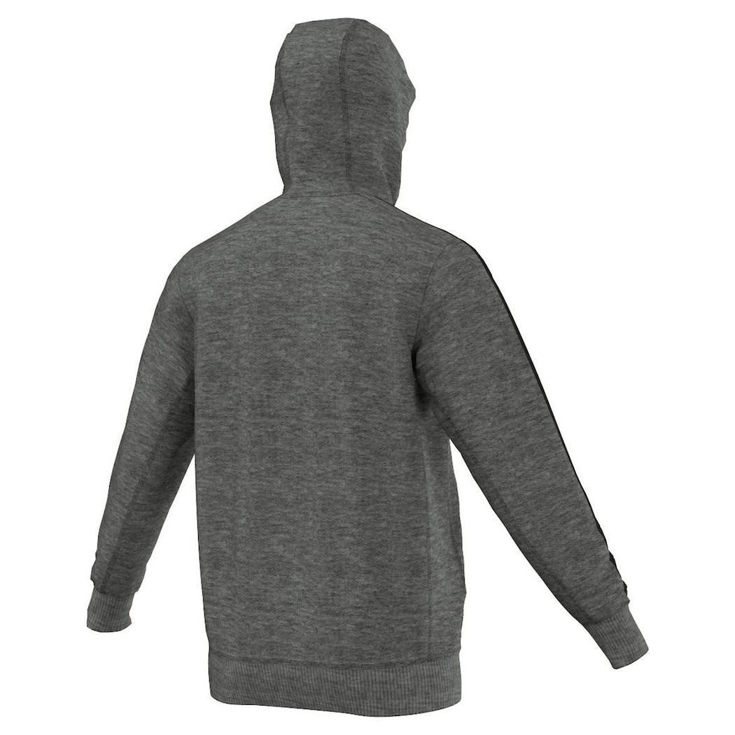 adidas DFB 3 Streifen Kapuzenjacke Hooded Zip Deutschland EM 2016 grauschwarz