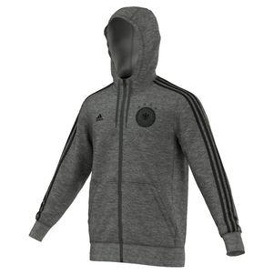 adidas DFB 3-Streifen Kapuzenjacke Hooded Zip Deutschland EM 2016 grau/schwarz – Bild 1