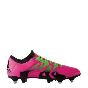adidas X 15.1 SG Synthetik Schraubstollen Fußballschuhe pink/grün – Bild 2