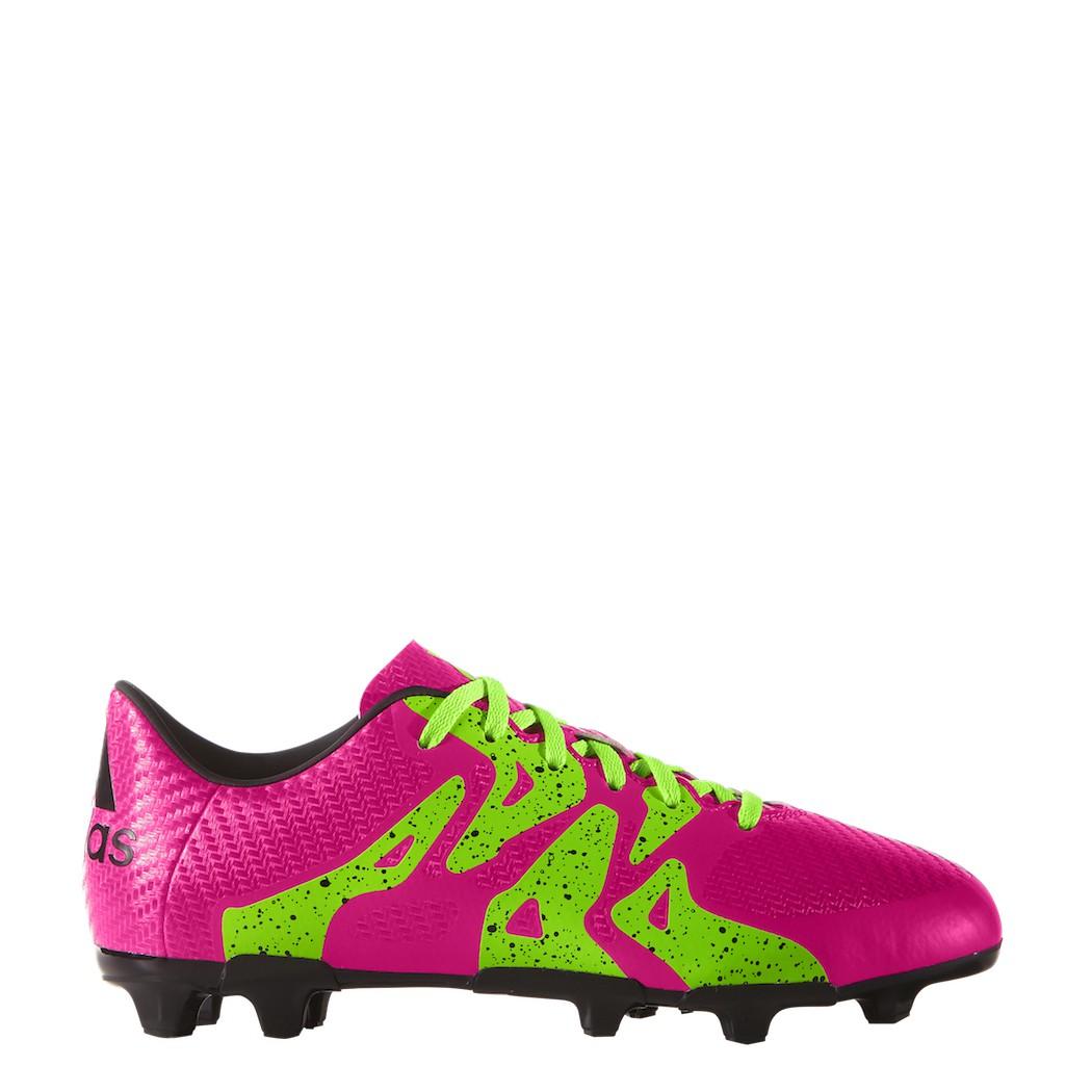 Adidas X 15 3 Fg Ag Fussballschuhe Synthetik Kinder Pink Grun Schwarz