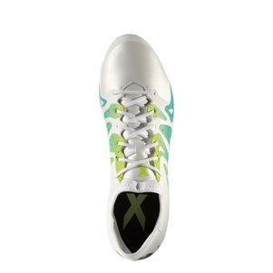 adidas X 15.2 FG/AG Synthetik Fußballschuhe weiß/grün/blau – Bild 5