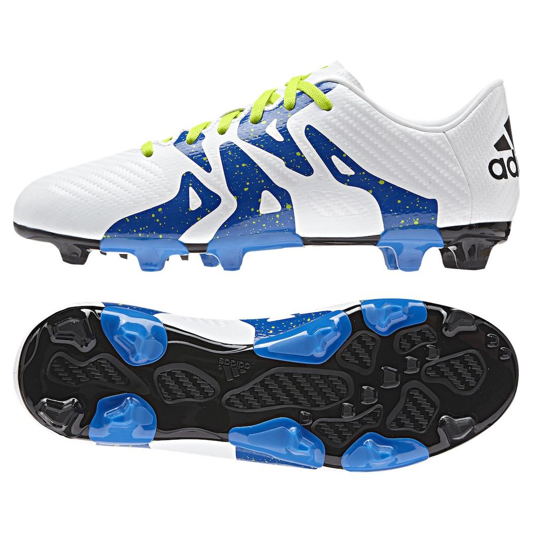 Adidas X 15 3 Fg Ag Fussballschuhe Synthetik Kinder Weiss Grun Blau