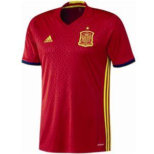 adidas FEF Home Spanien Heimtrikot EM 2016 rot