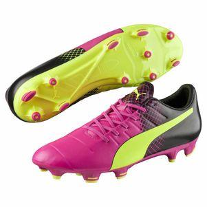 Puma evoPOWER 3.3 Tricks FG Fußballschuhe Herren gelb/pink – Bild 1