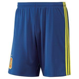 adidas FEF Home Spanien Short EM 2016 blau