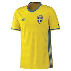 adidas SVFF Home Schweden Heimtrikot EM 2016 gelb – Bild 1