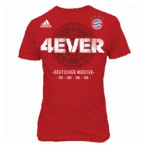 adidas Bayern München 4Ever Rekordmeister 2016 Meister T-Shirt rot