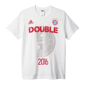 adidas Bayern München Pokalsieger Double T-Shirt 2016 weiß – Bild 1