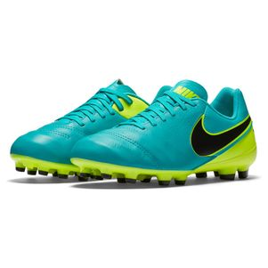 Nike Junior Tiempo Legend VI FG Spark Brilliance Pack türkis/gelb – Bild 4