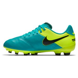 Nike Junior Tiempo Legend VI FG Spark Brilliance Pack türkis/gelb – Bild 3