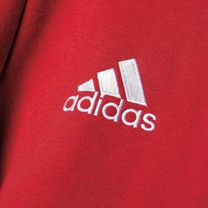 adidas Core 15 Hoody Kapuzenpullover rot/weiß – Bild 6