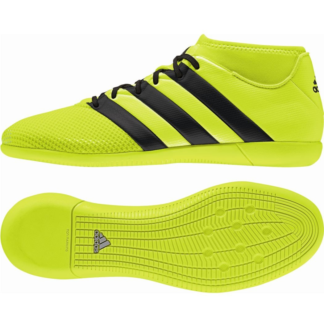 half off 7ab6a aa2a3 adidas ACE 16.3 Primemesh Indoor Speed of Light Pack gelb Knöchelsocke