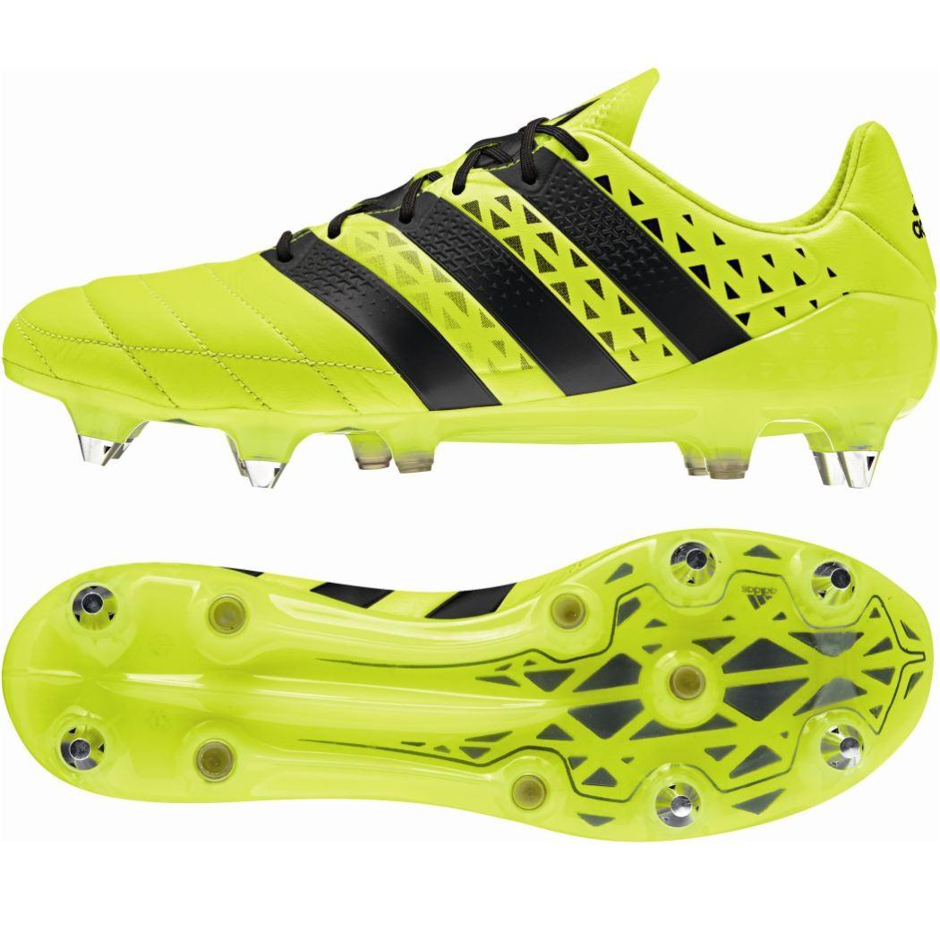 adidas ACE 16.1 SG Leather Leder Fußballschuhe mit Schraubstollen gelb