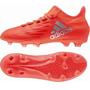 adidas X 16.1 FG Junior Speed of Light Pack Fußballschuhe mit Techfit Socke rot – Bild 1