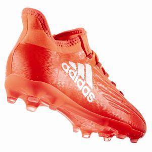 adidas X 16.1 FG Junior Speed of Light Pack Fußballschuhe mit Techfit Socke rot – Bild 3