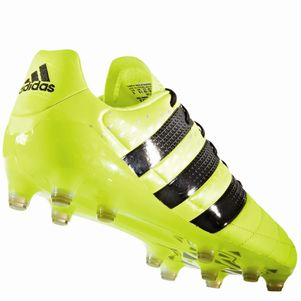 adidas ACE 16.1 FG Leather Leder Speed of Light Pack gelb schwarz – Bild 3