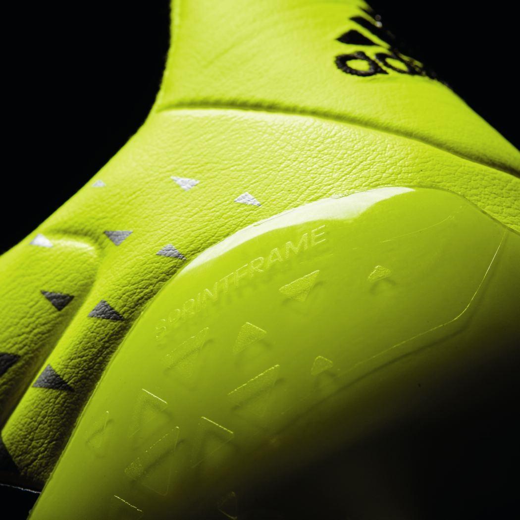 the latest d7170 aefdc best adidas ace 16.1 fg leather leder speed of light pack gelb schwarz bild  8 04a4a