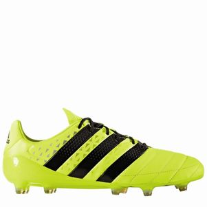 adidas ACE 16.1 FG Leather Leder Speed of Light Pack gelb schwarz – Bild 4