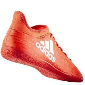 adidas X 16.3 JR Indoor Speed of Light Pack Hallen Fußballschuhe rot – Bild 3