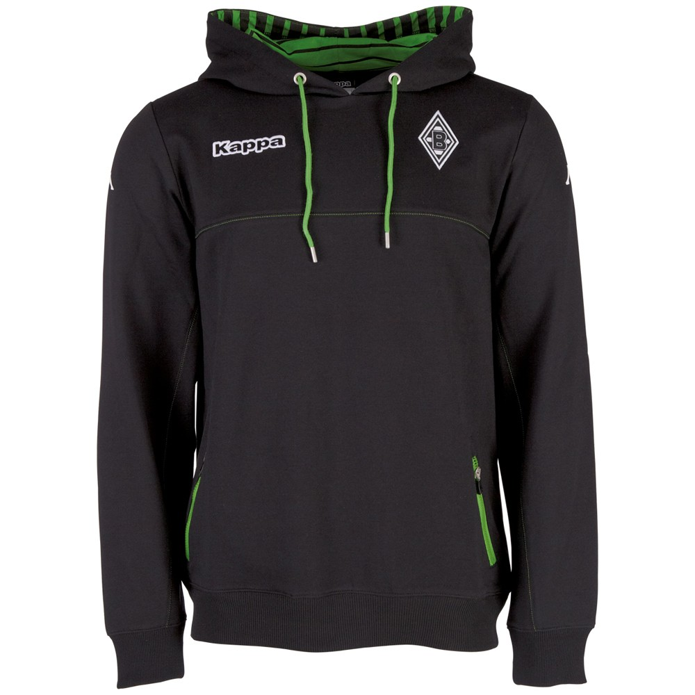 kappa borussia m nchengladbach kapuzen sweatshirt hoody schwarz fanshop bundesliga borussia. Black Bedroom Furniture Sets. Home Design Ideas