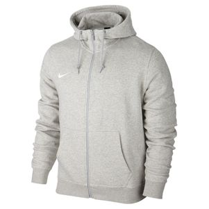 Nike Team Club Full-Zip Hoody Kapuzenjacke grau – Bild 1