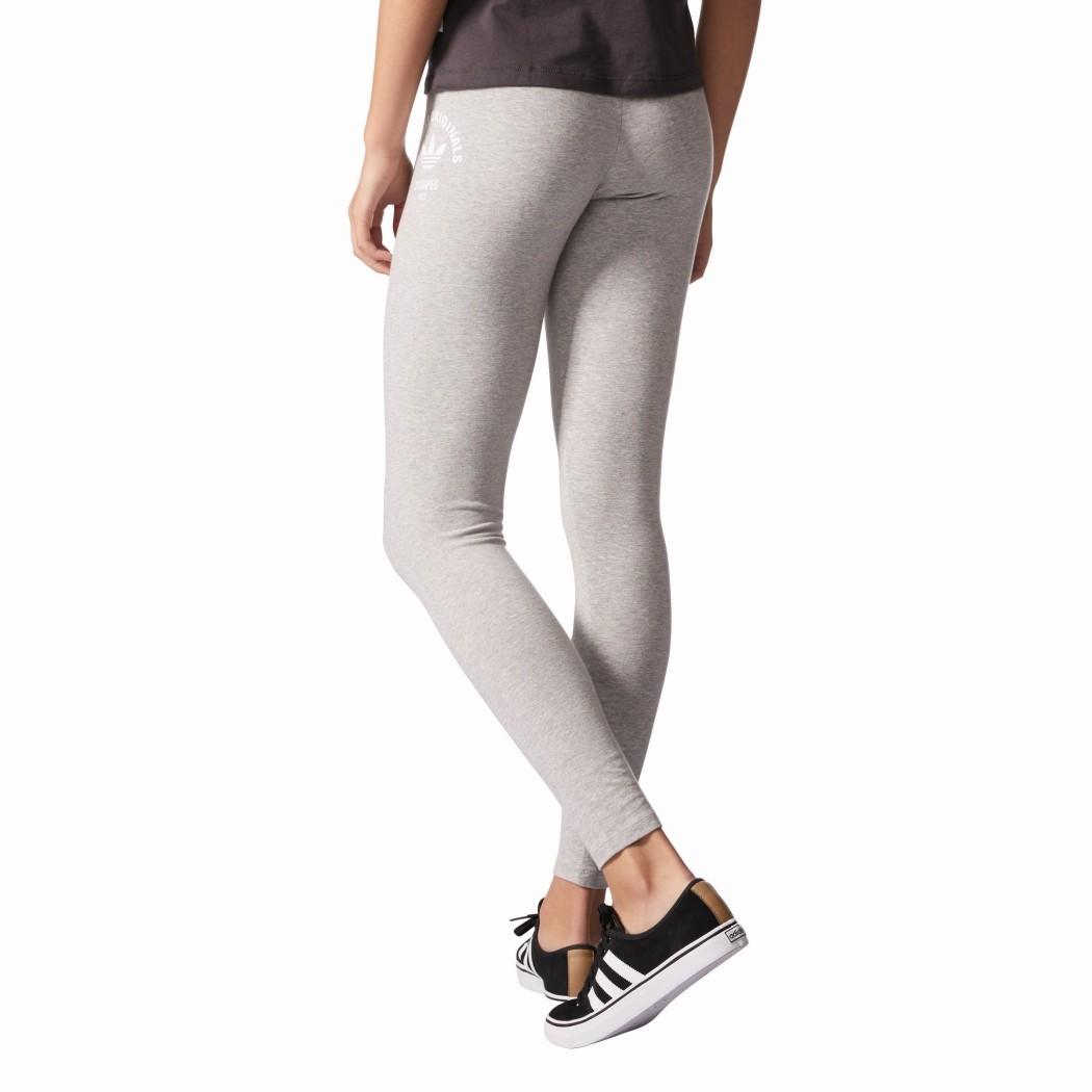 adidas originals trefoil leggings damen grau mode damen hosen. Black Bedroom Furniture Sets. Home Design Ideas