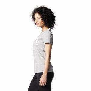adidas Originals TEE T-Shirt Damen Trefoil grau – Bild 2