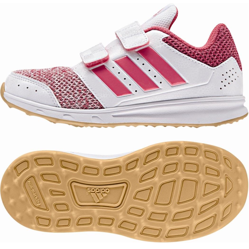 first rate bea0b 38cda adidas LK Sport 2 Kinder Sportschuhe mit Klettverschluß Mädchen weiß pink
