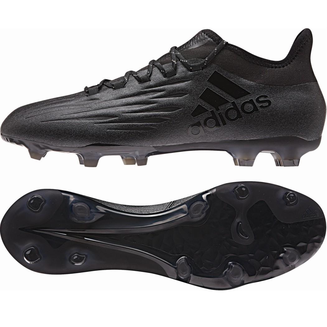 adidas X 16.2 FG Fußballschuhe Techfit Socke schwarz