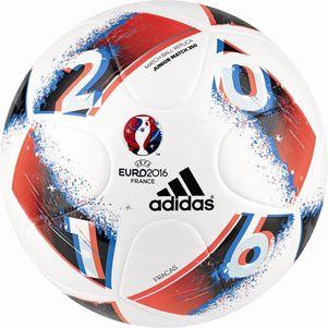 adidas Beau Jeu Fracas Junior 350g Fußball EM 2016 weiß/blau