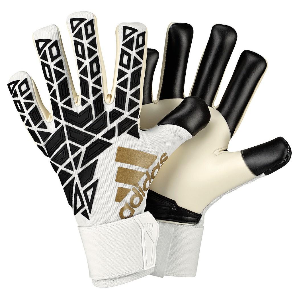 store hot product new design adidas ACE Trans Pro Torwarthandschuhe weiß/schwarz/gold