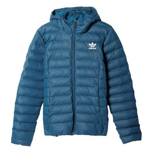adidas Originals Damen Slim Jacke Daunenjacke blau – Bild 1