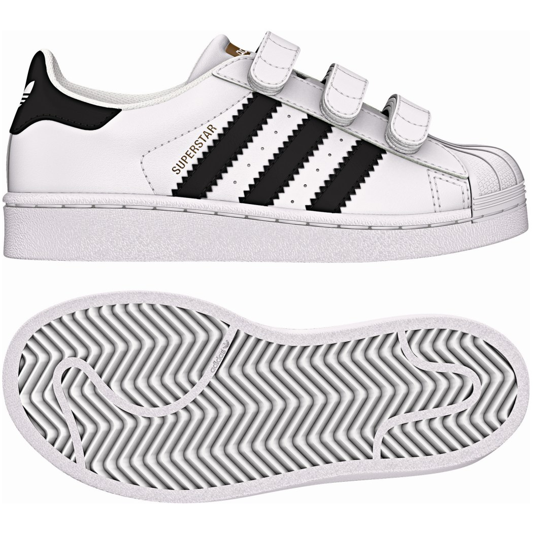adidas Originals Superstar Foundation J Kinderschuhe CF Klettverschluß