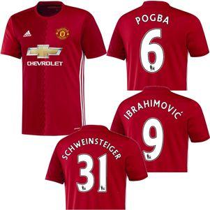 adidas Manchester United Home Heimtrikot 2016/2017 Pogba Ibrahimovic  – Bild 1