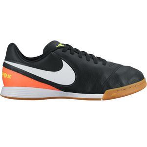 Nike Junior Tiempo Legend VI Indoor Dark Lightning Pack schwarz weiß orange – Bild 1