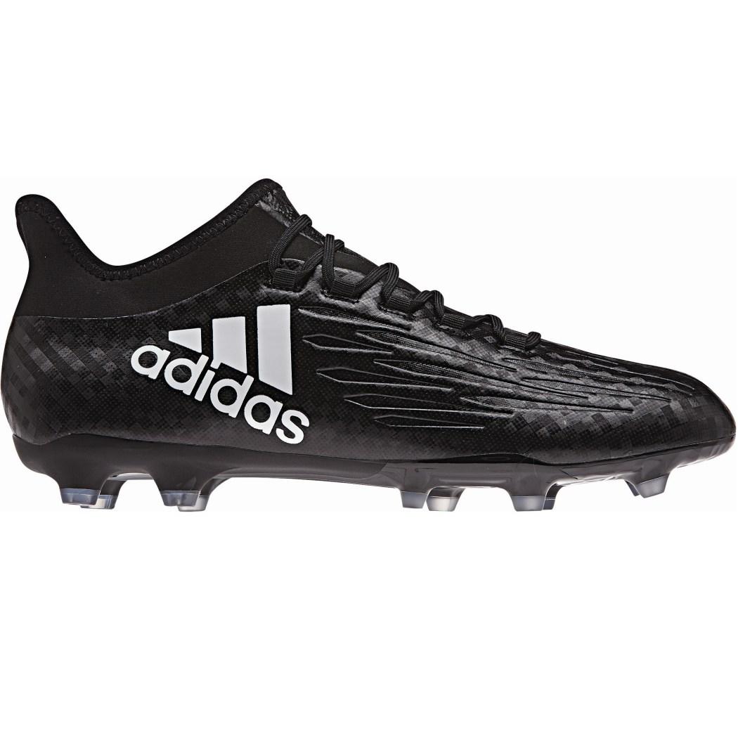 adidas X 16.2 FG Fußballschuhe Checkered Black Pack Socke schwarz