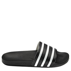 adidas Originals adilette Slipper Badelatschen Herren schwarz / weiß – Bild 1